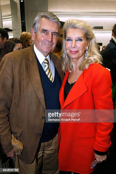 Baron and Baroness Gilles Ameil attend the Opening of the Collection 'Exemplaire x Nicolas Ouchenir' at Exemplaire Store on October 29 2015 in Paris...