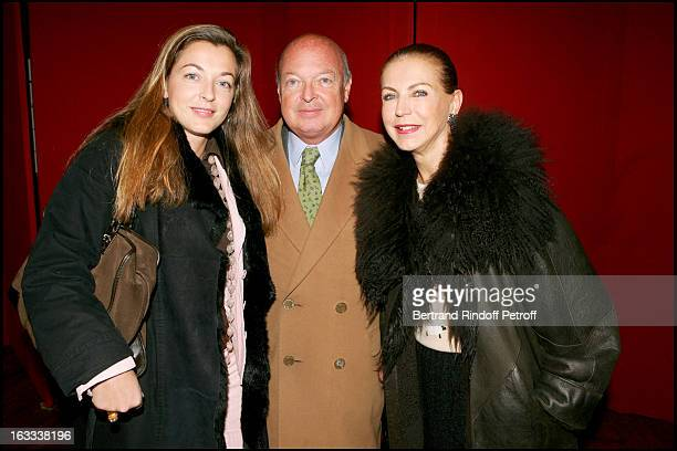 Baron and Baronne Emmanuel Reille and their daughter Arrabelle Madhavi at the Paris Premiere Of Matthew Bourne's Swan Lake At Theatre Mogador