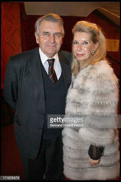 Baron and Baronne Gilles Ameil at The Paris Production Of The Show Une Comedie Romantique At The Theatre Montparnasse In Aid Of L'Aprec