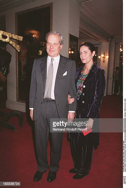 Baron David De Rothschild, Baroness Olympia De Rothschild at theParis Theatre Production Of Les Portes Du Ciel 1999.
