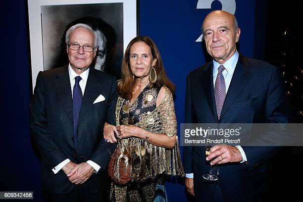 "Baron David de Rothschild, his wife Baroness Olympia de Rothschild and Politician Alain Juppe attend the ""Cezanne et Moi"" movie Premiere to Benefit..."