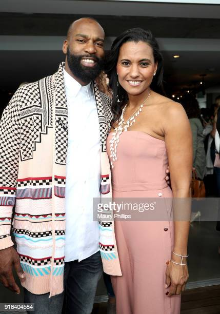 Baron Davis and Christine Champion attend Big Love Fest Women's Networking Event at The Jeremy Hotel on February 14 2018 in Los Angeles California