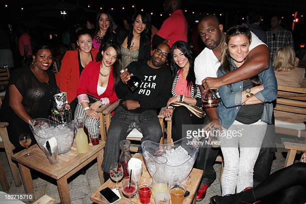 Baron Davis and guests attend the JayZ And Beyonce Summer Ends With D'USSE Cognac Cocktails Celebration at La Marina Restaurant Bar Beach Lounge on...
