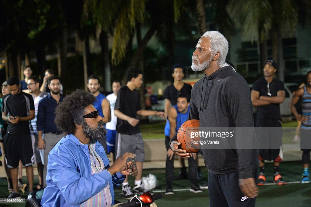 68d030f29264 Baron Davis and Kyrie Irving on set at Pepsi s Uncle Drew  Chapter 4 ...
