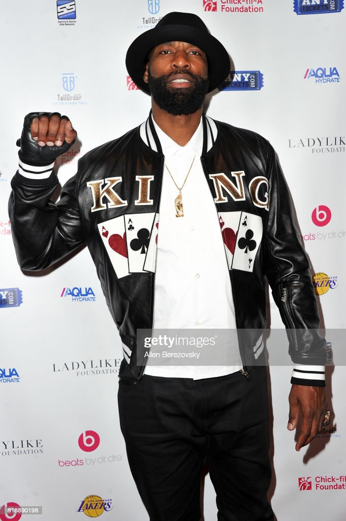 Baron Davis attends the NBA All-Star Bowling Classic at Lucky Strike LA Live on February 15, 2018 in Los Angeles, California.
