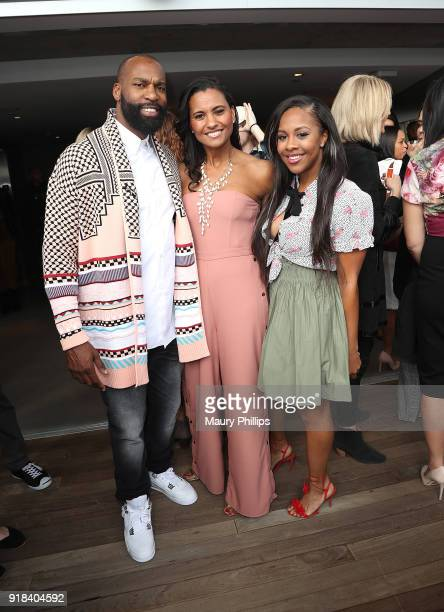 Baron Davis Christine Simmons and Miss Diddy attend Big Love Fest Women's Networking Event at The Jeremy Hotel on February 14 2018 in Los Angeles...