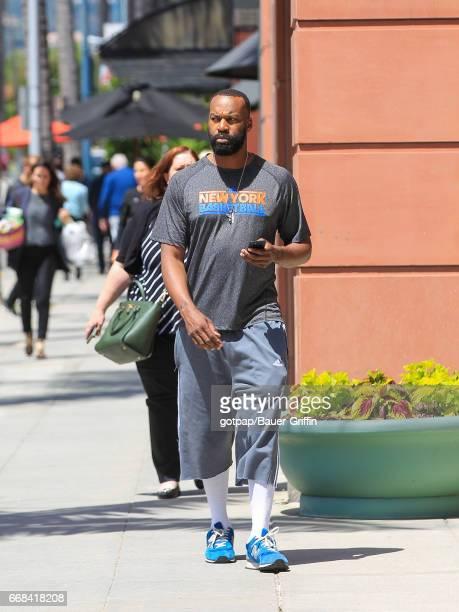 Baron Davis is seen on April 13, 2017 in Los Angeles, California.