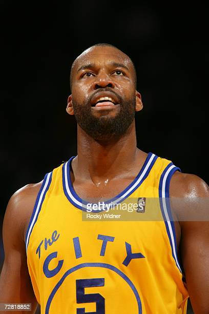 Baron Davis of the Golden State Warriors looks on before game action against the Milwaukee Bucks on December 2, 2006 at Oracle Arena in Oakland,...