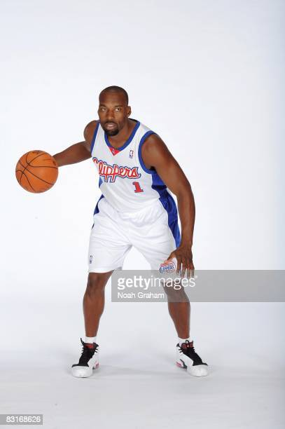 Baron Davis of the Los Angeles Clippers poses for a portrait during NBA Media Day on September 29 2008 at the Clippers Training Facility in Playa...