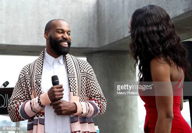 Baron Davis speaks onstage during Big Love Fest Women's Networking Event at The Jeremy Hotel on February 14 2018 in Los Angeles California