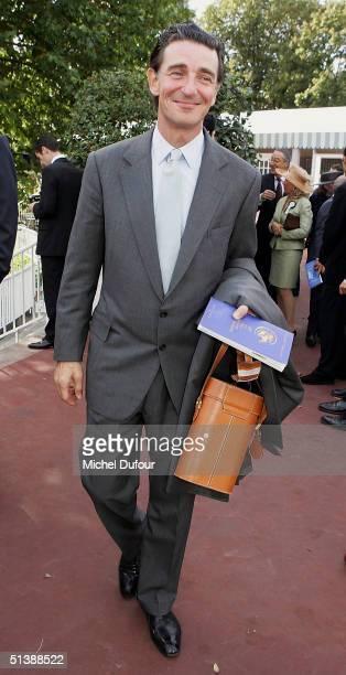 Baron Edmond de Rothschild attends the Prix de l'Arc de Triomphe at Lonchamp on October 3 2004 in Paris France