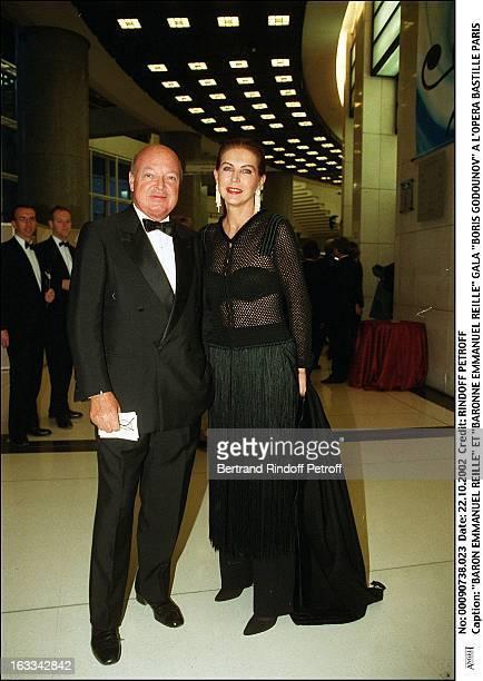 Baron Emmanuel Reille and Baroness Emmanuel Reille Boris Godounov Gala at the Bastille opera of Paris