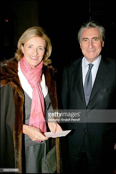 Baron Ernest Antoine Seilliere and wife Antoinette at the Gala Evening In Aid Of L'Association Le Pont Neuf At L' Eglise Saint Roch In Paris