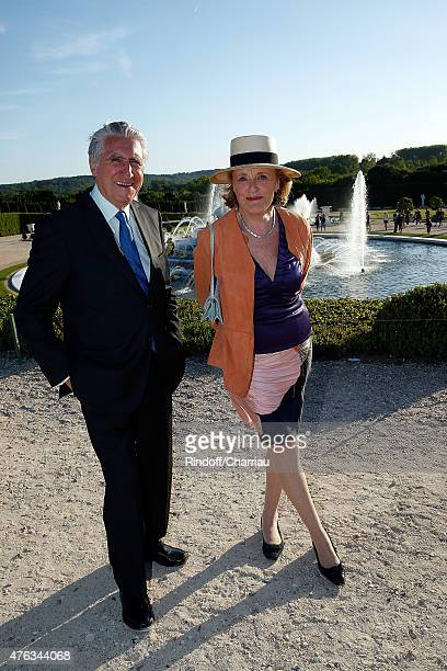 Baron ErnestAntoine Seilliere and his wife Antoinette Barbey attend the Grand Opening Anish Kapoor's Exhibition at Chateau de Versailles on June 7...