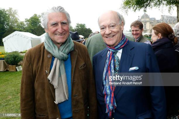 Baron ErnestAntoine Seilliere and Prince Karim Aga Khan attend the Days of Plants 2019 at Chateau de Chantilly on May 17 2019 in Chantilly France