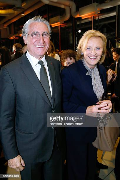 Baron ErnestAntoine Seilliere and wife Baroness Antoinette Seilliere attend the Tribute to Alfred Pacquement Director of the Centre Pompidou Museum...