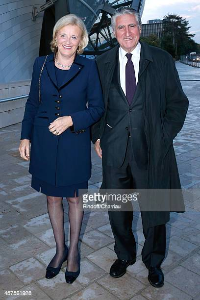 Baron ErnestAntoine Seilliere and wife Baroness Antoinette Seilliere attend the Foundation Louis Vuitton Opening at Foundation Louis Vuitton on...