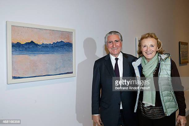 Baron ErnestAntoine Seilliere and wife Baroness Antoinette Seilliere attend the 'Les Clefs d'une Passion' Exhibition Preview Held at Fondation Louis...