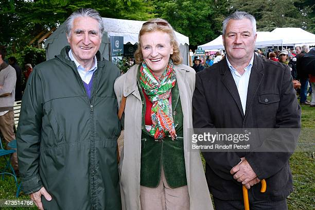 Baron ErnestAntoine Seilliere his wife Baroness Antoinette Seilliere and Steward of their property Remi Varin attend the Days of Plants 2015 From...