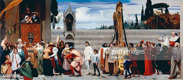 Baron Frederick Lord Leighton Cimabue's Madonna Carried in Procession 185355 oil on canvas Royal Collection London