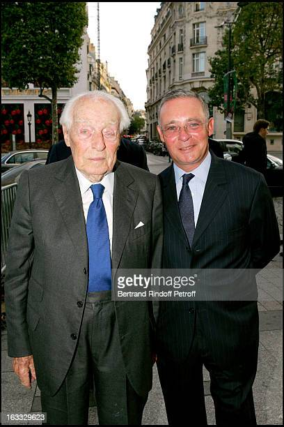 Baron Guy De Rothschild and Le Comte Philippe De Nicolay at the Gala Evening In Paris In Aid Of The Pompidou Foundation