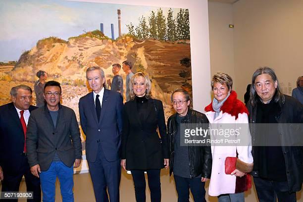 Baron Guy Ullens de Schooten Artist Liu Xiaodong Owner of LVMH Luxury Group Bernard Arnault his wife Helene Arnault Artist Huang Yong Ping Baroness...