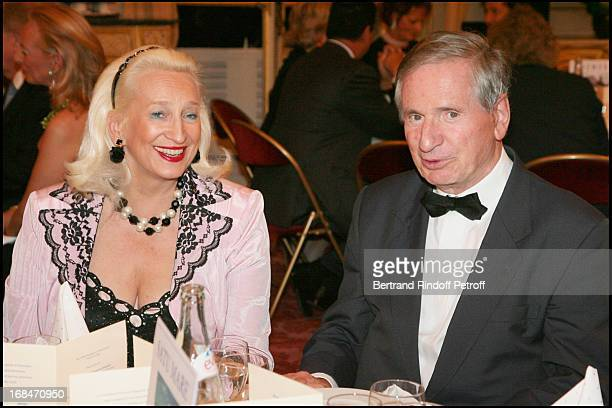 Baron Jean Claude Veyron Lacroix and Madame Corinne Fabre at Gala Dinner Of The Princess Margarita Of Romania Foundation Given At The Senat In Paris