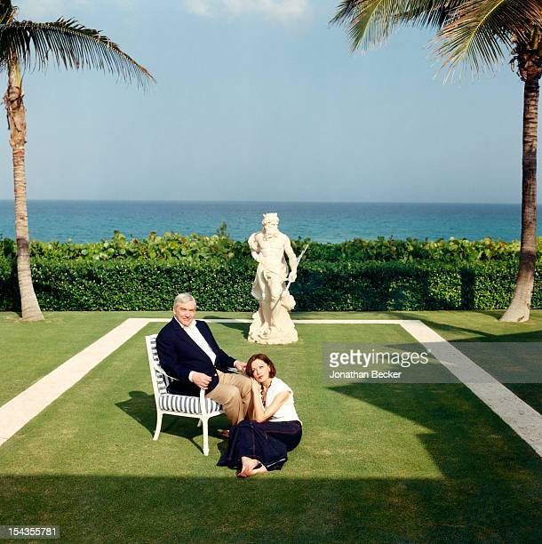 Baron of Crossharbour Conrad Black historian columnist and publisher and wife Baroness Black of Crossharbour Barbara Amiel pose for Vanity Fair...