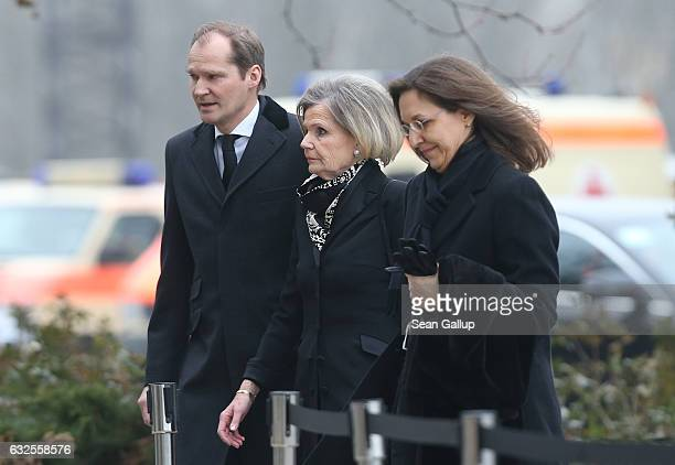 Baroness Alexandra von Berlichingen widow of former German President Roman Herzog arrives for Herzog's state memorial ceremony at the Dom cathedral...
