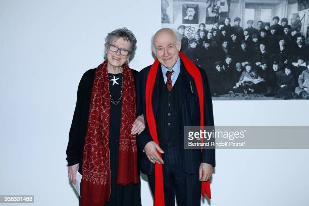 Baroness Beatrice de Rothschild and her husband Pierre Rosenberg attend the 'Chagall Lissitzky Malevitch L'Avantgarde Russe a Vitebsk 19181922' Press...