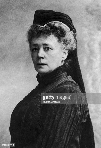 Baroness Bertha von Suttner winner of the 1905 Nobel Peace Prize for her work as President of the Permanent International Peace Bureau circa 1890 She...