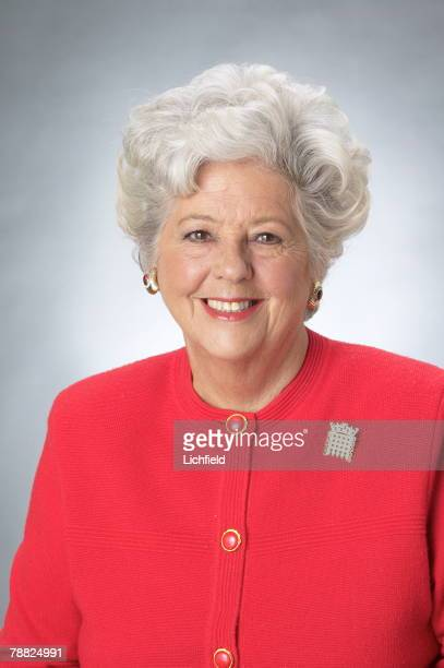 Baroness Betty Boothroyd former dancer and Tiller Girl became a Labour politician and the first female Speaker of the House of Commons photographed...