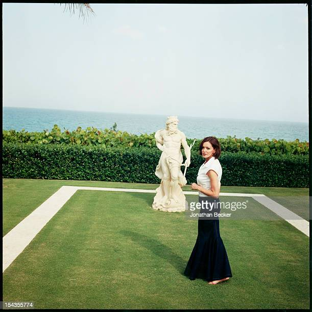 Baroness Black of Crossharbour Barbara Amiel pose for Vanity Fair Magazine on March 18 2003 in Palm Beach Florida