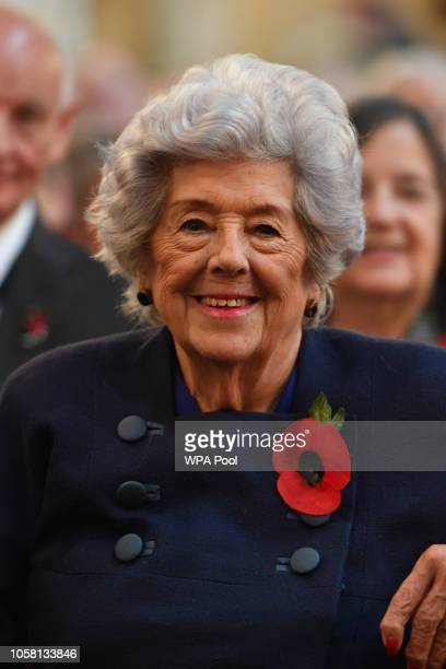 Baroness Boothroyd attends a Service of Remembrance for members of the House of Commons and House of Lords in St Margaret's church in Westminster to...