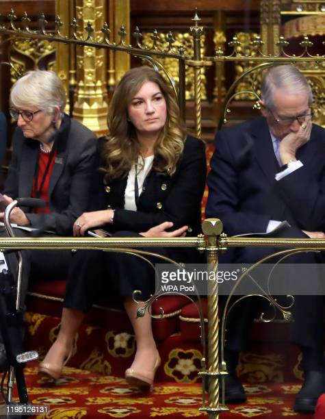 Baroness Brady listens inside the House of Lords as the European Withdrawal Agreement Bill is debated at House of Lords on January 21, 2020 in...