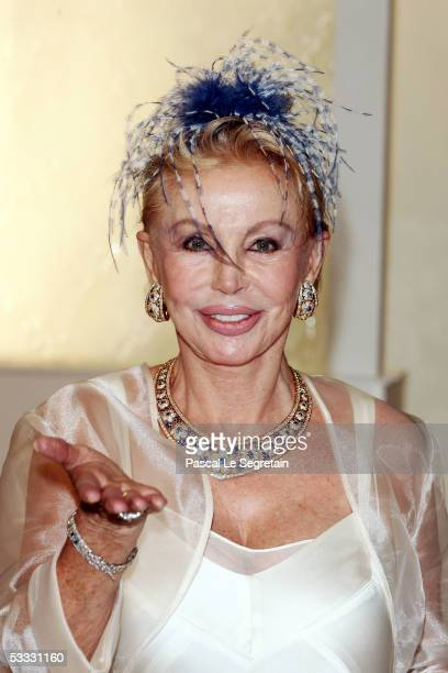 Baroness Brandstetter arrives at the 57th Red Cross Ball on August 5 2005 in Monte Carlo Monaco