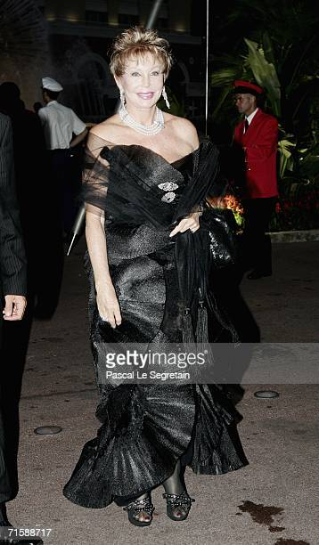 Baroness Branstetter arrives at the Monaco Red Cross Ball under the Presidency of HSH Prince Albert II in the Salles des Etoiles at the Sporting...