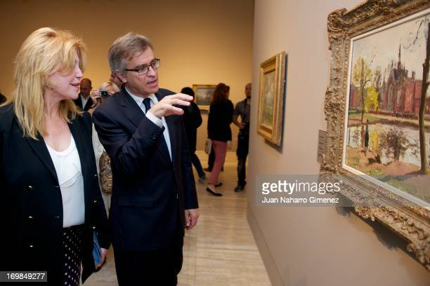 Baroness Carmen Thyssen attends the Camille Pissarro exhibition opening at the Thyssen Museum on June 3 2013 in Madrid Spain
