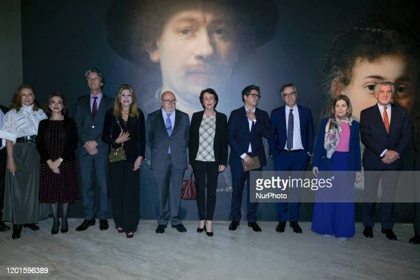 Baroness Carmen Thyssen attends the inauguration of Rembrandt and the portrait in Amsterdam 15901670 exhibition in the National Museum Thyssen...