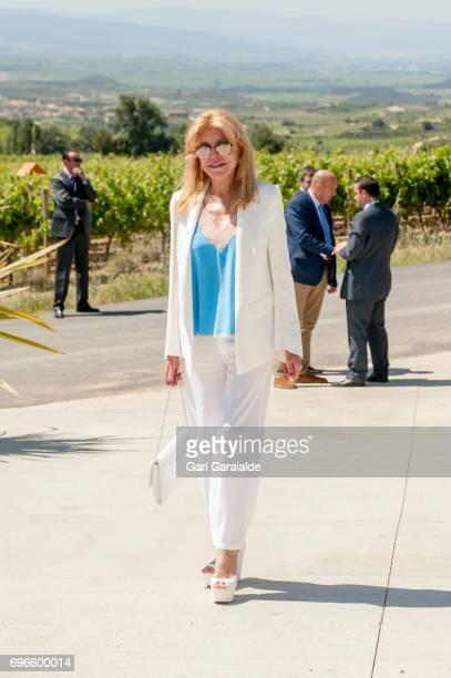 <ALAVA SPAIN JUNE 16 Baroness Carmen Thyssen Bornemisza attends Macan Winery inauguration on June 16 2017 in Alava Spain