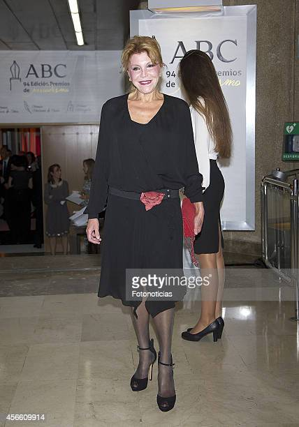 Baroness Carmen ThyssenBornemisza attends a dinner in honour of the 'Mariano de Cavia' 'Luca de Tena' and 'Mingote' awards winners at Casa de ABC on...