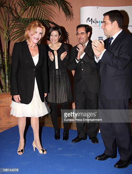 Baroness Carmen ThyssenBornemisza attends a exhibition of her private collection at ThyssenBornemisza Museum on January 18 2011 in Madrid Spain