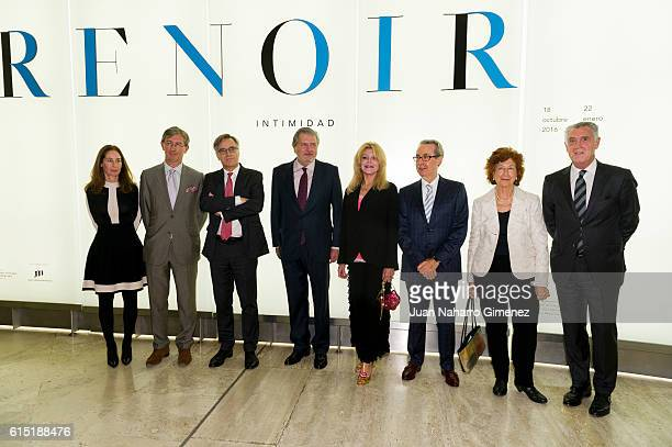 Baroness Carmen ThyssenBornemisza attends the 'Intimidad' of Pierre Auguste Renoir exhibition opening at Thyssen Museum on October 17 2016 in Madrid...