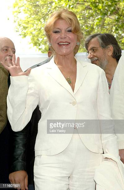 Baroness Carmen ThyssenBornemisza during Demonstration Against the Cut Down and Relocation of Trees at the Thyssen Bornemiza Museum May 6 2006 at...