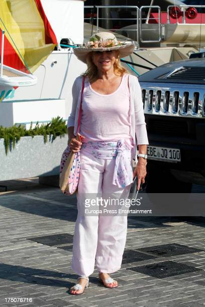 Baroness Carmen ThyssenBornemisza is seen on July 30 2013 in Ibiza Spain
