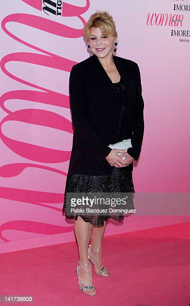 Baroness Carmen ThyssenBornemisza poses for photographers during Woman Magazine Awards 2012 at French Embassy on March 22 2012 in Madrid Spain
