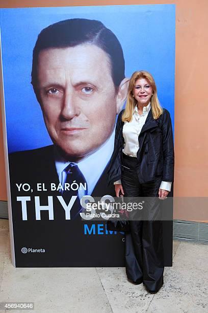 Baroness Carmen ThyssenBornemisza 'Tita Cervera' presents 'Yo El Baron Thyssen' at ThyssenBornemisza Museum on October 9 2014 in Madrid Spain
