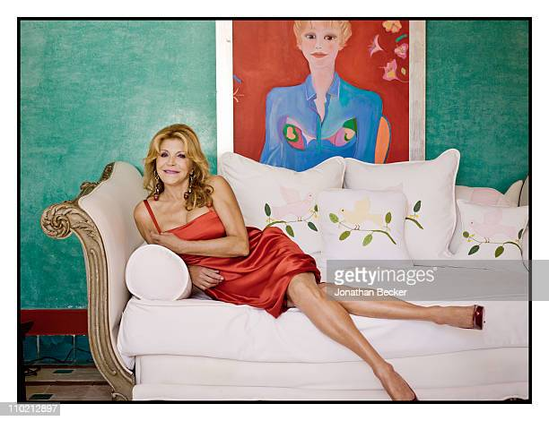Baroness Carmen von Thyssen is photographed at home for Vanity Fair Spain on August 24 2010 in Sant Feliu Spain Published image