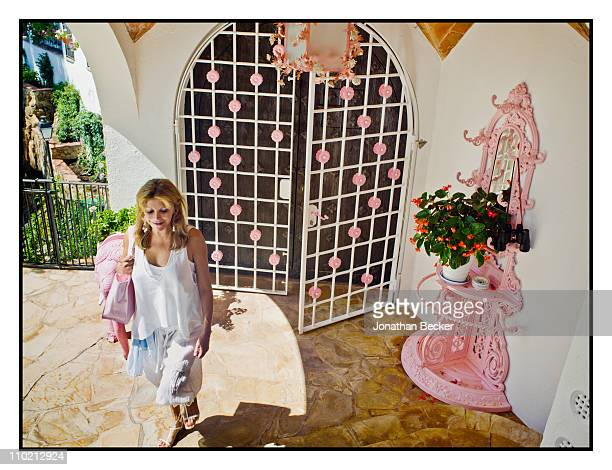 Baroness Carmen von Thyssen is photographed at home for Vanity Fair - Spain on August 24, 2010 in Sant Feliu, Spain. Published image.