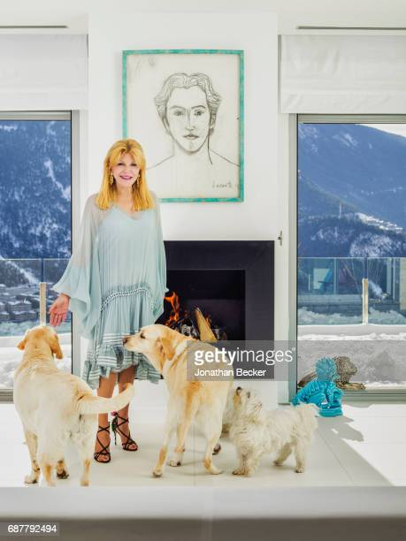 Baroness Carmen von Thyssen is photographed for Vanity Fair Spain on January 19 2017 at home in EscaldesEngordany Andorra PUBLISHED IMAGE